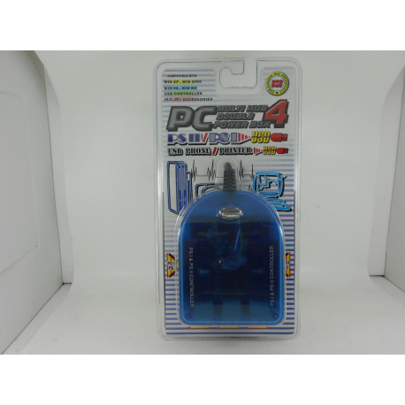 Adaptador mandos PS/PS2-PC + 3 Hub USB