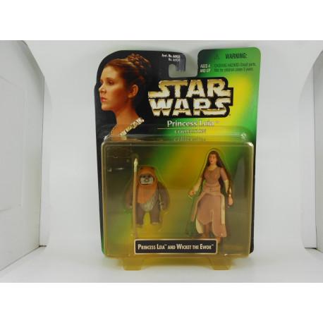 Princess Leia and Wicket the Ewok