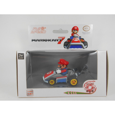 Coche Mario Kart 7 Pull & Speed - Mario
