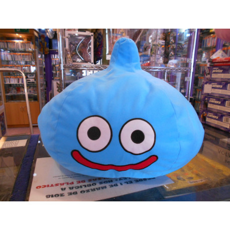 Dragon Quest Cojin Slime Azul Bordado 40 Cms.