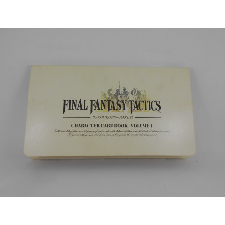 Final Fantasy Tactics Character Card Book Volume 1 Japones