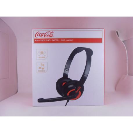 Auriculares Gaming Coca Cola (Validos para PS4, XBO, Switch y MAC)