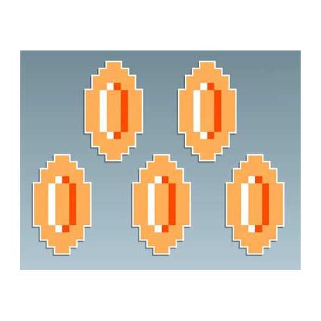 Mario - 5 Monedas 3 x 5 Cms cada una