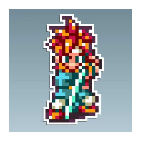 Chrono Trigger - Crono At 5,5 x 10 Cms